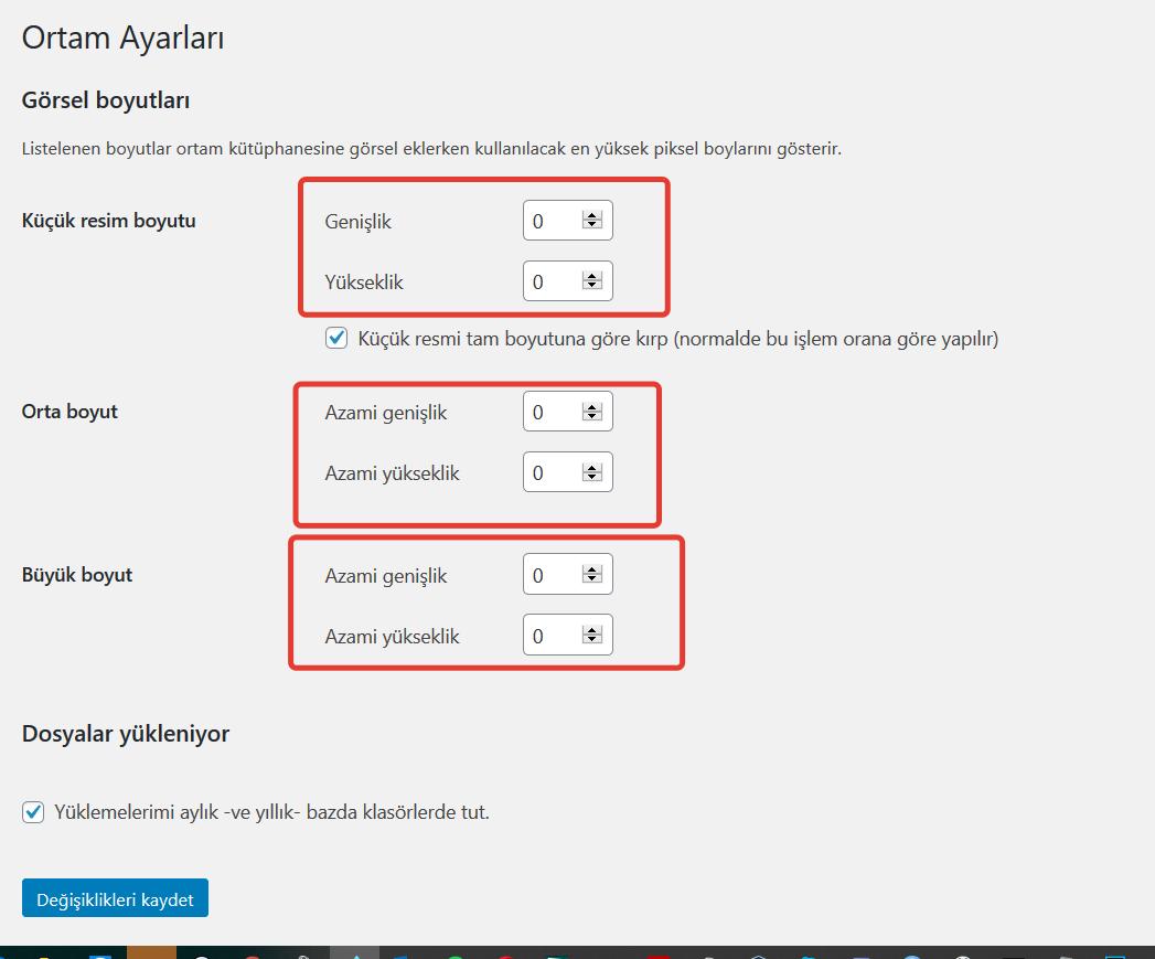 Wordpress kullanılmayan görsellerin sayısını durdurma