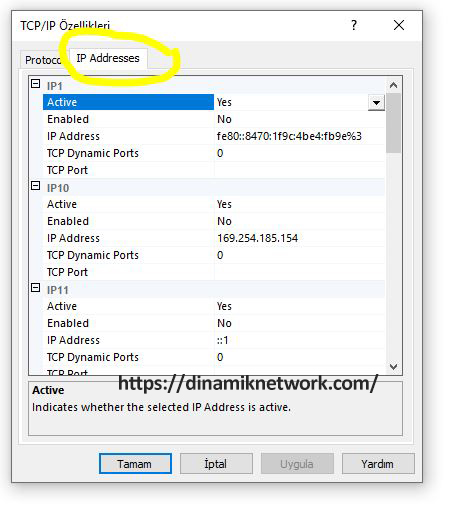 sql server tcp ip connection