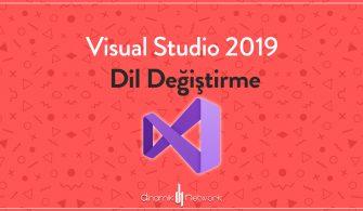 Visual Studio 2019 Dil Değiştirme