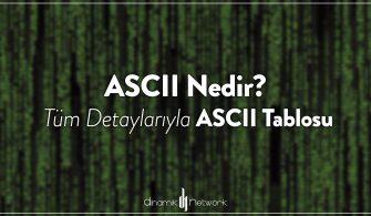 ASCII Nedir? Tüm Detaylarıyla ASCII