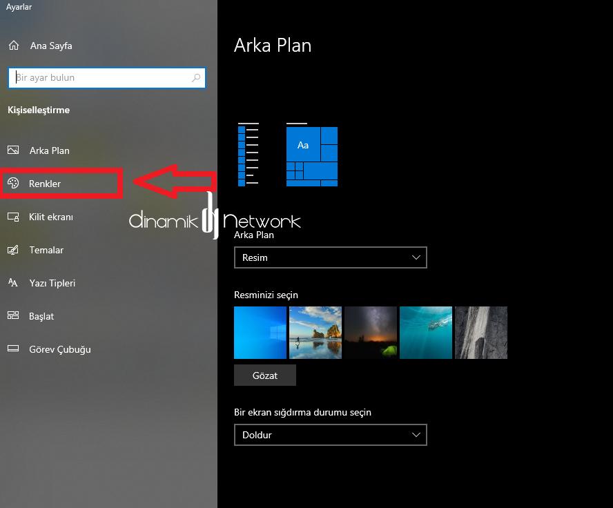 Windows 10 Dark Tema
